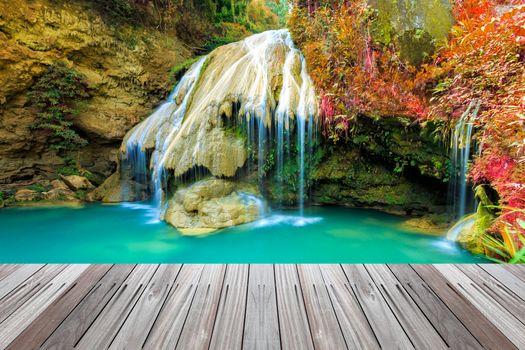 Photo free waterfall, Thailand, bridge