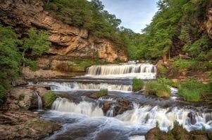 Бесплатные фото Willow River Falls,Wisconsin Willow River State Park,Hudson,Wisconsin,водопад,скалы,деревья