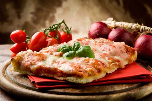 A piece of delicious pizza · free photo