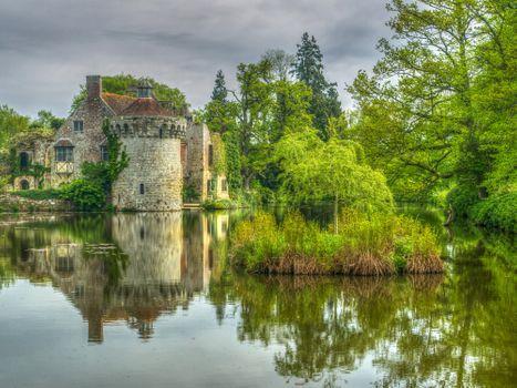 Заставки Кент, замок Скотни, Англия