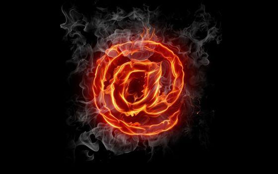 Photo free fiery symbol, mail, printing