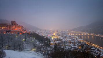 Гейдельберг после снегопада