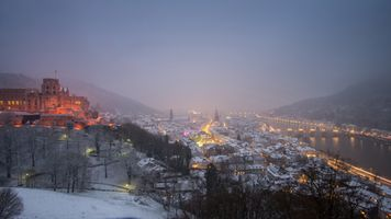 Heidelberg after a snowfall · free photo