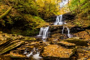 Заставки Государственный парк Ricketts Glen, Осень Тускарура, осень