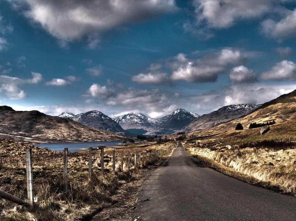 Фото бесплатно Road to Inversnaid, Stronachlachar, Scotland, United Kingdom, пейзажи