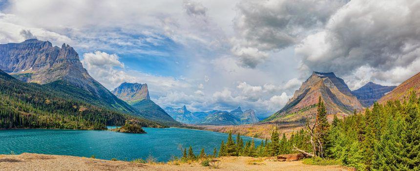 Фото бесплатно St Mary Lake, Glacier National Park, горы