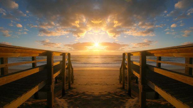 Бесплатные фото закат солнца,вода,рассвет,мост,пирс,море,размышления,пляж,смеркаться,небо,панорама,берег