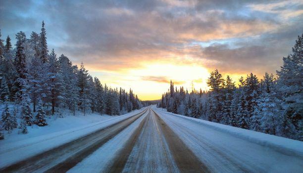 Фото бесплатно Куусамо, Финляндия, закат
