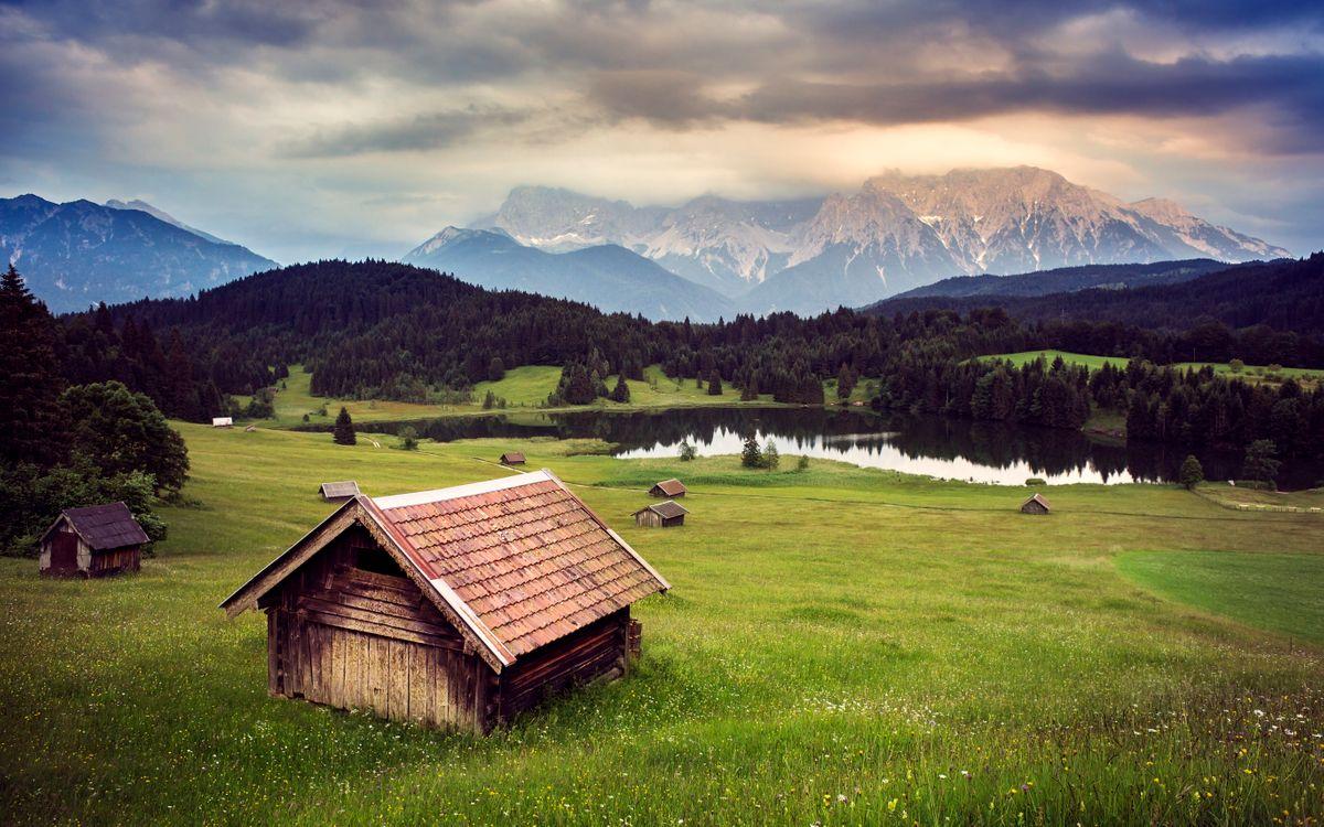 Фото бесплатно Озеро Герольдзее, Гармиш, Альпы - на рабочий стол