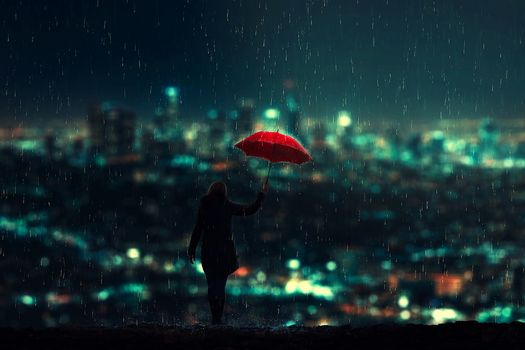 Girl under an umbrella · free photo
