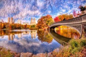 Заставки Центральный Парк, осень, Нью-Йорк