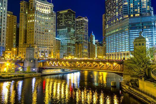 Photo free city skyline, Chicago, USA