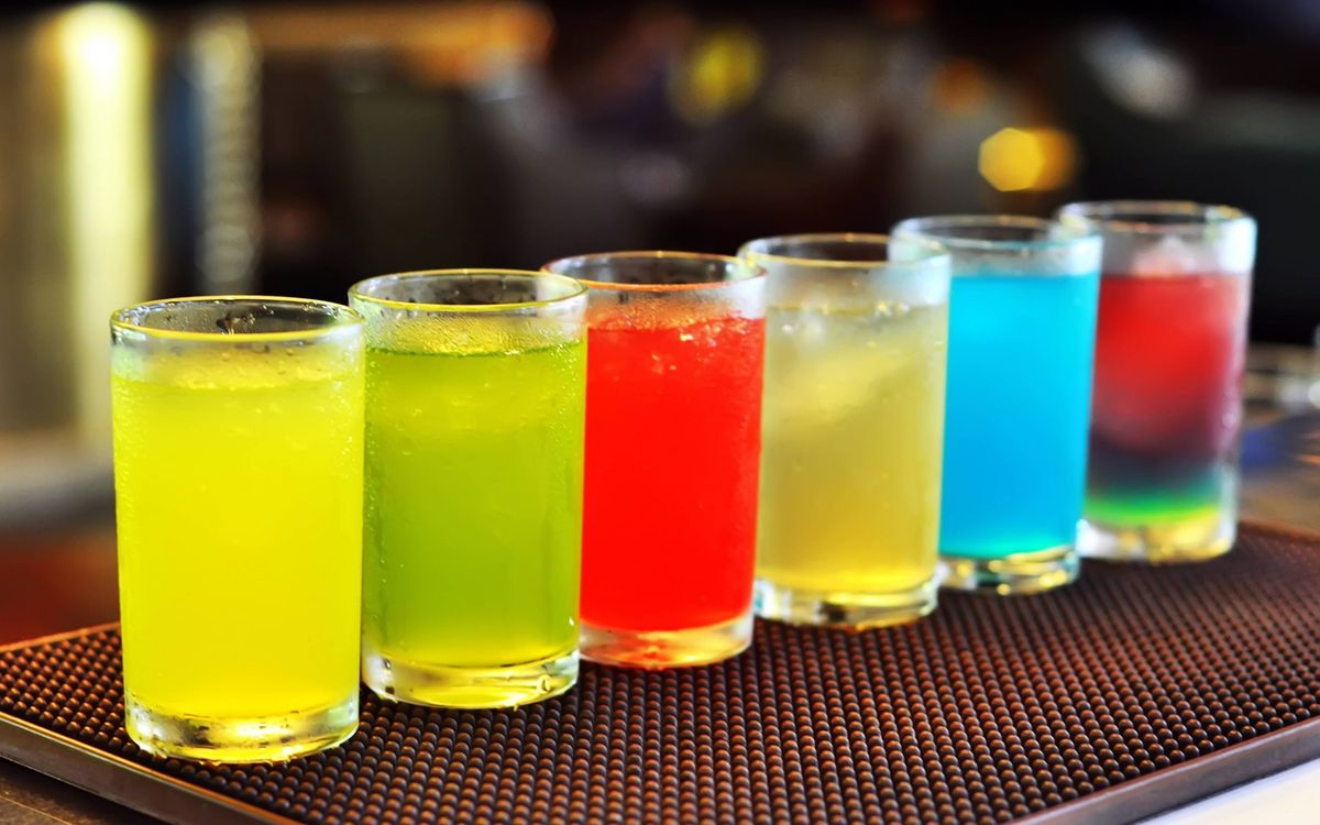 Фото бесплатно коктейль, разноцветные, коктейли - на рабочий стол