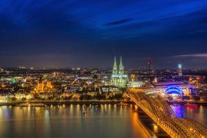 Заставки Cologne, НОЧЬ, ночной город