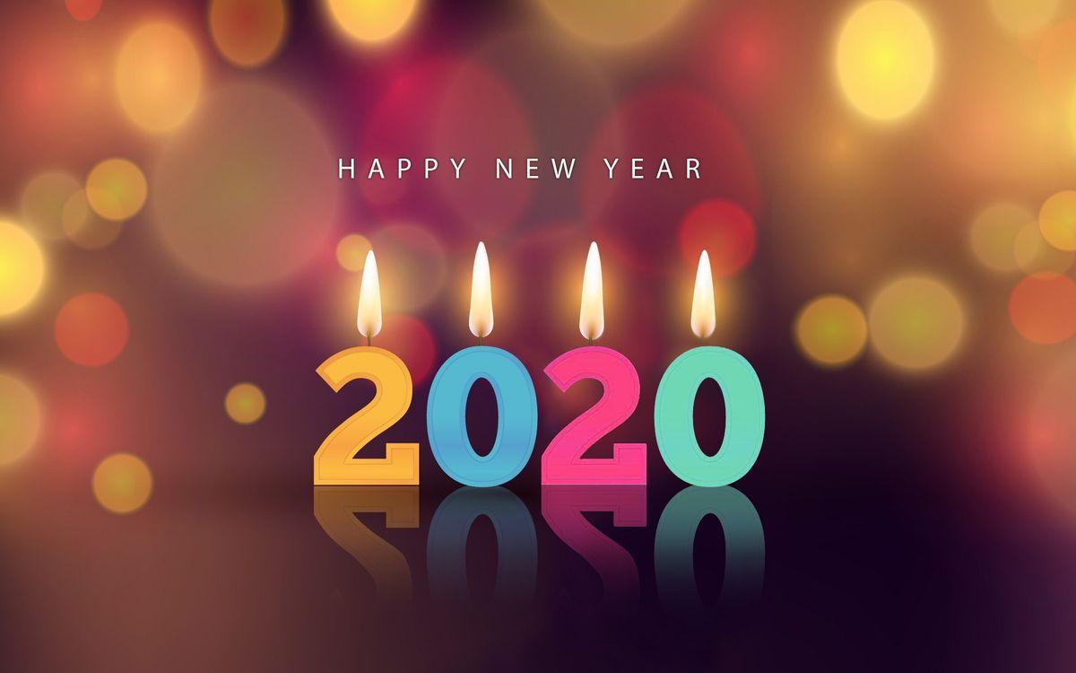 Обои новогодний фон, 2020, цифры свечки картинки на телефон