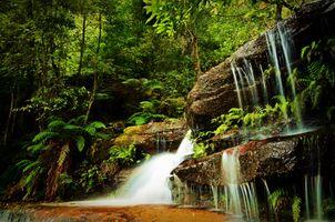 Фото бесплатно скалы, поток, пейзаж