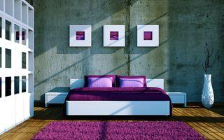 Фото бесплатно кровать, интерьер, ковер