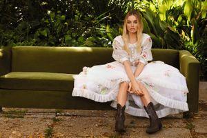 Заставки Марго Робби, платье, белое
