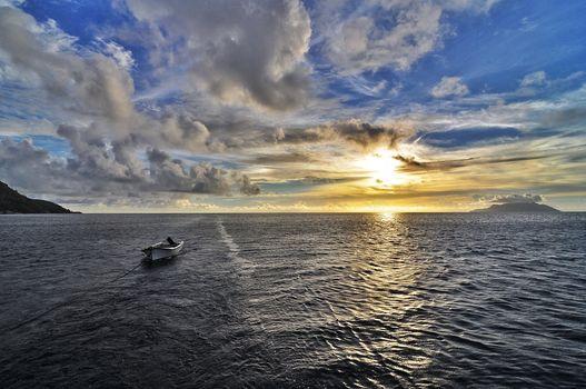 Заставки Сейшельские острова, волны, океан