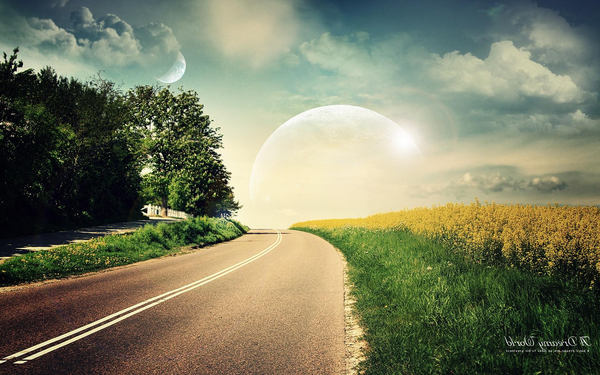 палитре солнце на дороге картинки маша