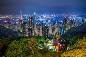 Заставки Китай, ночной город, ночь