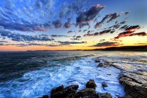 Заставки облака, океан, центральное побережье