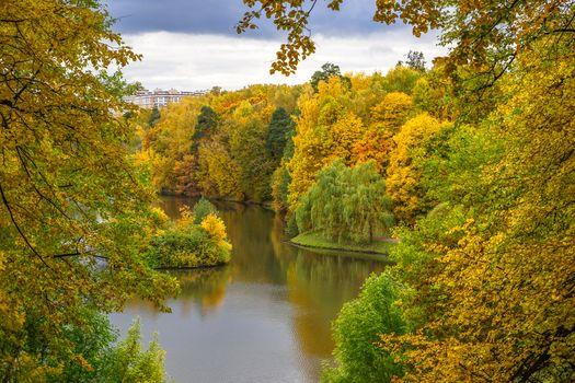 Photo free Russia, manor, autumn colors
