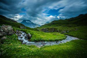 Фото бесплатно В Бернских Альпах, Швейцария, горы