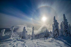 Заставки Монтана, зима, снег