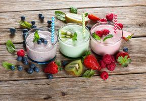 Фото бесплатно йогурт, завтрак, ягоды