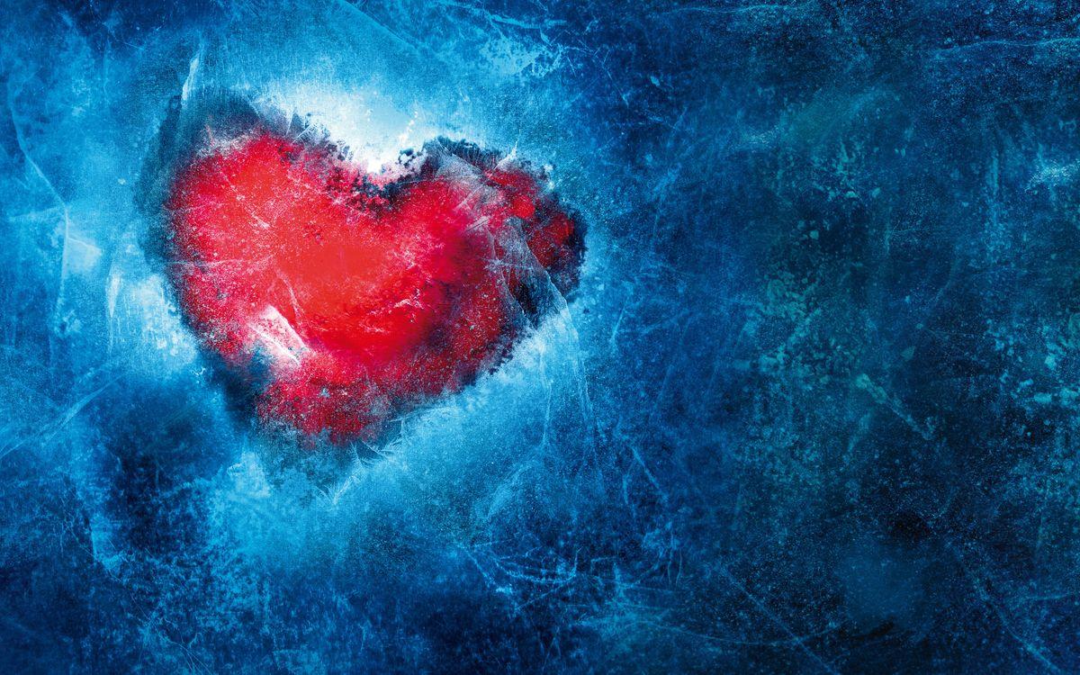 Фото бесплатно Ледяное сердце, манипуляции с фото, романтика - на рабочий стол