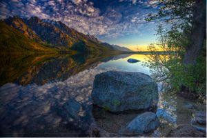 Заставки Озеро Дженни, Национальный парк Гранд-Титон, озеро