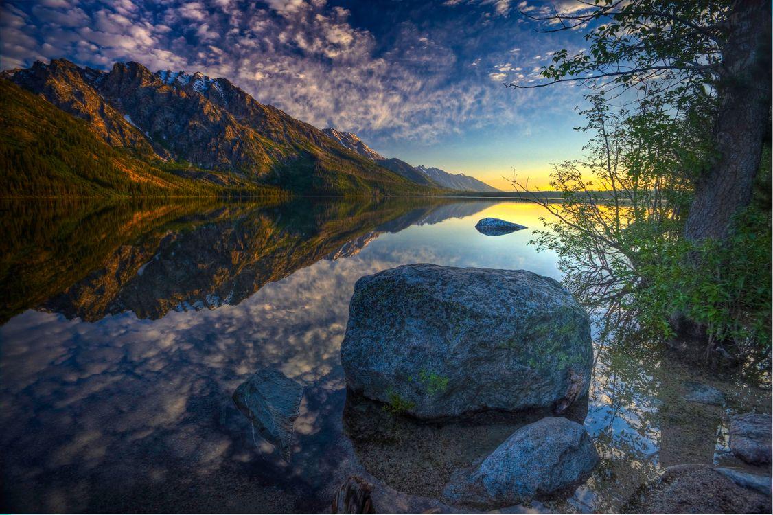 Фото бесплатно Озеро Дженни, Национальный парк Гранд-Титон, озеро - на рабочий стол