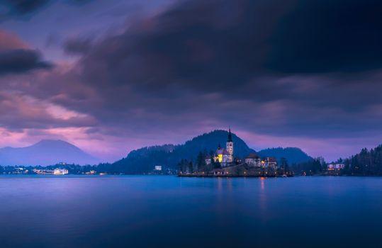 Фото бесплатно Блед, озеро Блед, островная церковь