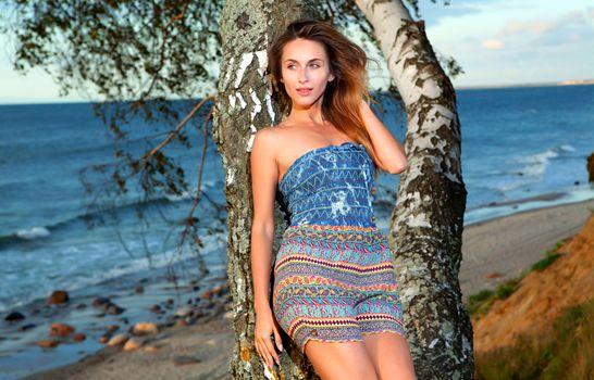 Photo free sexy, summer dress, lake