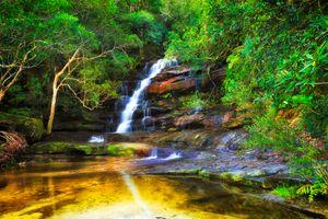 Фото бесплатно Somersby, Australia, водопад