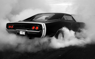Фото бесплатно Dodge 1969, пробуксовка, автомобиль