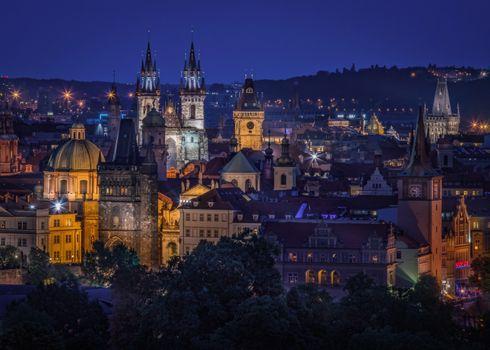 Фото бесплатно Прага, сумерки, Чехия