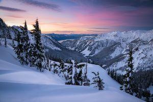 Бесплатные фото Снег,горы,Тихоокеанский Северо-Запад,Восход закат,Вашингтон,зима,снег