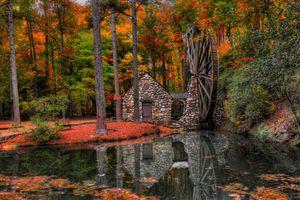 Заставки парк, вода, деревья