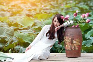 Бесплатные фото азиатские женщины,рыжие,рыжие волосы,цветы,длинные волосы