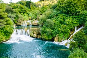 Photo free river, waterfall, Krka Waterfalls