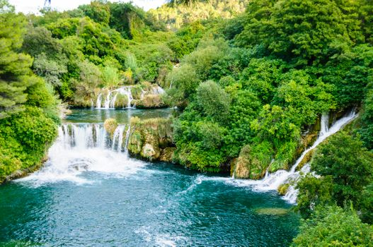 Photo free Krka Waterfalls, Croatia, river