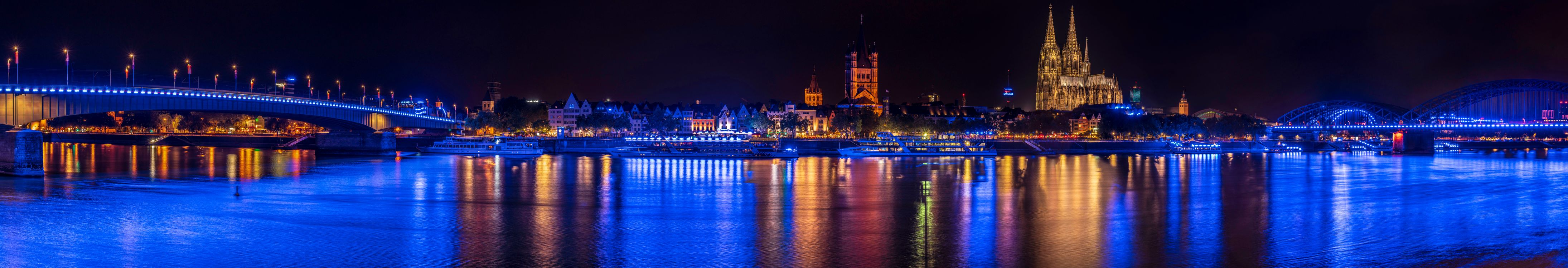 Фото бесплатно ночь, панорамный, Германия - на рабочий стол