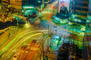 Seoul Nights with Bright Trails · free photo