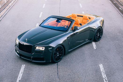 Фото бесплатно Rolls Royce, рассвет, кабриолет