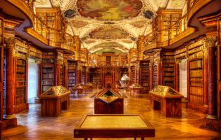 Photo free St Gallen, Abbey Library of St gall, Rococo