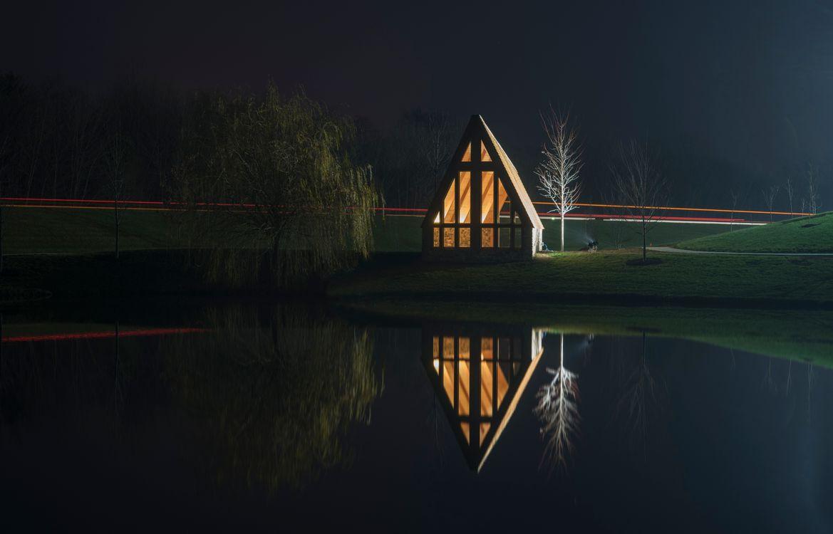 Фото бесплатно архитектурное, архитектура, строительство, природа, туман, озеро, обои, лес, путешествие, природа