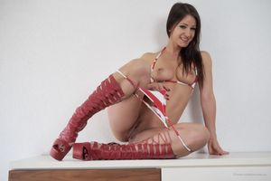 Kristina Uhrinova pulled the panties down to her knees