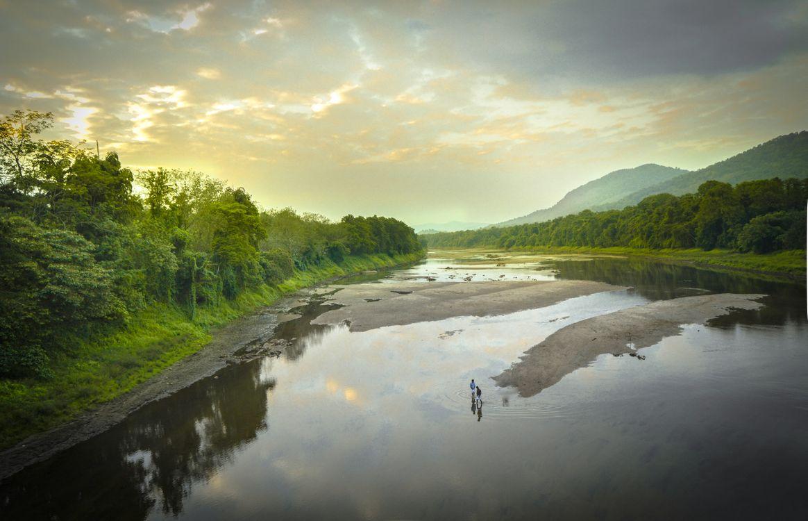 Обои река, размышления, природа, воды, водный путь, озеро, небо, водные ресурсы, банка, резервуар, утро, Хайленд, водоток, атмосфера, озерный район на телефон | картинки пейзажи